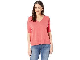 Lilla P Easy V-Neck Cotton Modal Sweater