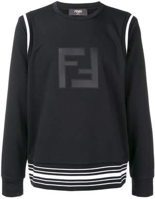 Fendi cuffed logo sweatshirt