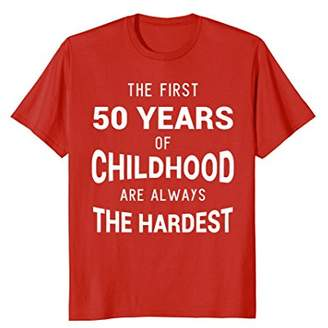 Funny 50th Birthday Joke Gift 50 Years Old Novelty Gag Shirt