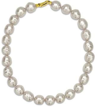 "Majorica Baroque Simulated Pearl Collar Necklace, 17"""