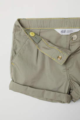 H&M Cotton Shorts - Green