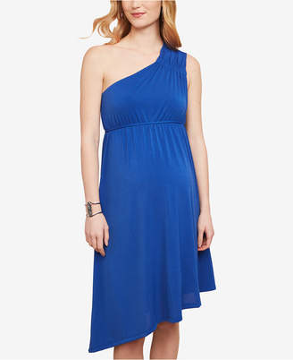 Jessica Simpson Maternity One-Shoulder A-Line Dress