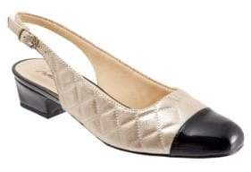 Trotters Dea Quilted Slingback Pumps