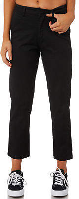 Volcom New Women's Frochickie Highrise Pant Cotton Fitted Elastane Black