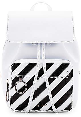 Off-White Diagonal Mini Backpack