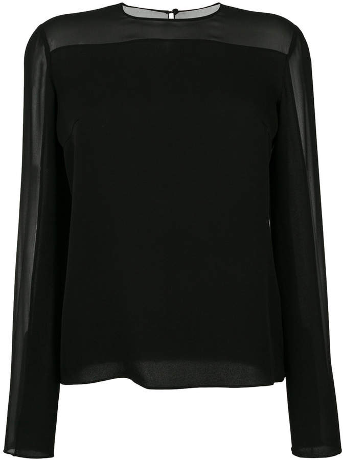 Tom Ford Double georgette long sleeve top