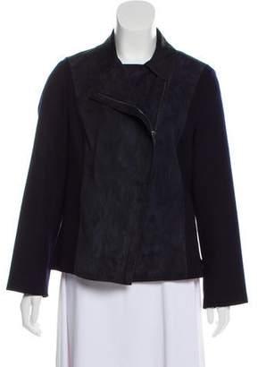 Loro Piana Suede Zip-Up Jacket