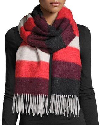 Rag & Bone Wide-Stripe Brushed Blanket Scarf, Fiery Red $195 thestylecure.com