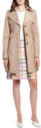 Halogen Hooded Trench Coat