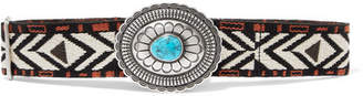 Etro Embellished Canvas-jacquard Waist Belt