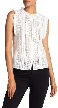 Rebecca Taylor Sleeveless Lace Top