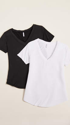 Z Supply The Luxe Modal Deep V Neck 2 Pack