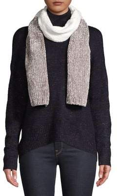 BCBGeneration Colorblock Cable-Knit Scarf