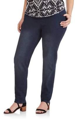 PENELOPE'S CLOSET Women's Plus Comfort Band Skinny Leg 5-Pocket Jean