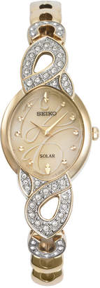 Seiko Women's Solar Gold-Tone Stainless Steel Bracelet Watch 20mm SUP342 $325 thestylecure.com