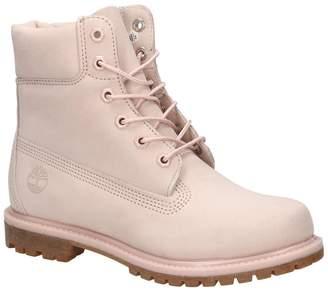 Timberland Womens 6 Inch Premium Mono Light Pink Nubuck Boots 7 US