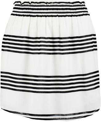 Vix Striped crepe skirt $126 thestylecure.com