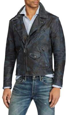Polo Ralph Lauren Camo Leather Biker Jacket