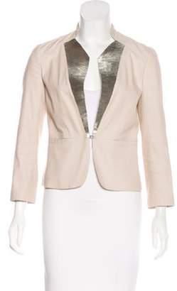 Robert Rodriguez Collarless Embellished Blazer