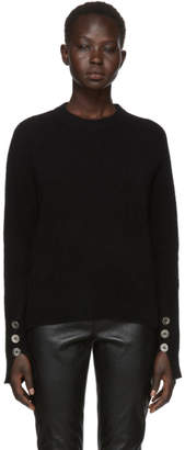 3.1 Phillip Lim Black Inset Shoulder High Low Sweater