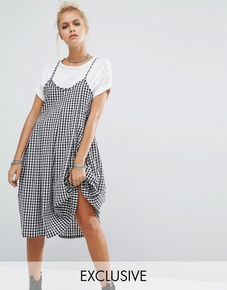 Milk It Vintage Pleated Cami Dress In Gingham $61 thestylecure.com