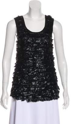 Givenchy Ruffled Sleeveless Blouse