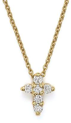 """Roberto Coin 18K Yellow Gold Small Cross Necklace, 16"""""""