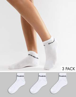 Reebok Training Socks 3 Pack In White