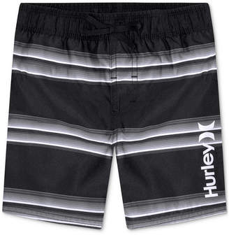 Hurley (ハーレー) - Hurley Toddler Boys Striped Board Shorts Swim Trunks