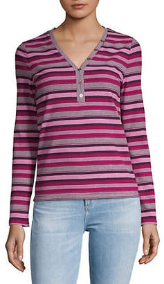 Tommy Hilfiger Striped Long-Sleeve Top