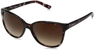 DKNY Women's Plastic Woman Sunglass Square