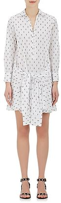 Derek Lam 10 Crosby Women's Flocked Cotton Poplin Shirtdress $395 thestylecure.com