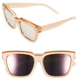 Women's Le Specs 'Edition Two' 55Mm Sunglasses - Matte Blush/ Pearl Tan/ Gold $125 thestylecure.com