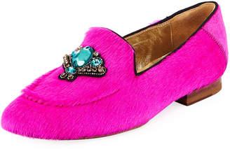 Figue Milky Embellished Fur Loafers