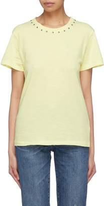 Current/Elliott 'The Glitter Rock' stud collar T-shirt