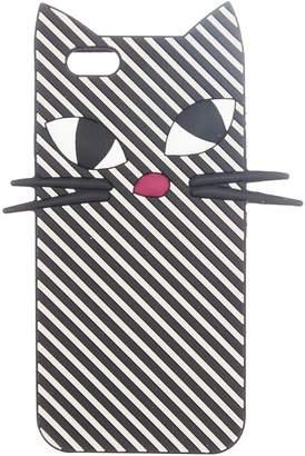 Lulu Guinness Mono stripe kooky cat iphone 6 case
