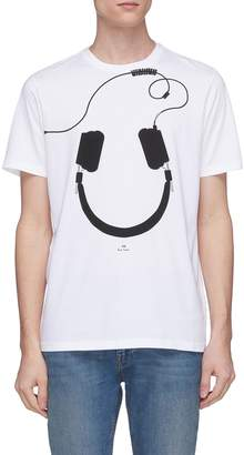 Paul Smith Headphone print organic cotton T-shirt
