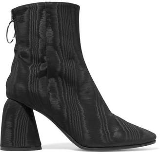 Ellery Moire Ankle Boots - Black
