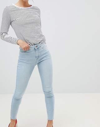New Look Vanessa Super Skinny High Rise Frayed Hem Jean