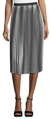 Eileen Fisher Ombre Pleated Midi Skirt, Petite