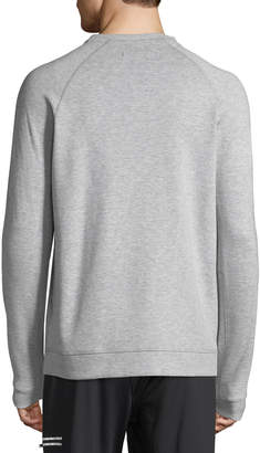Karl Lagerfeld Paris Men's Long-Sleeve Cotton-Blend Sweatshirt with Mesh Pocket