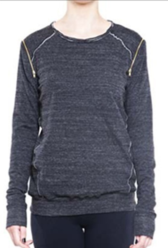 David Lerner Shoulder Zip Sweatshirt