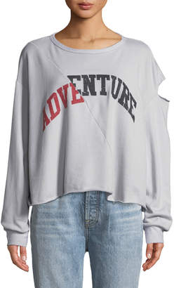 Vintage Havana Adventure Slashed Sweatshirt