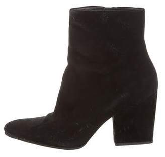 Alexander Wang Pointed-Toe Suede Ankle Boots