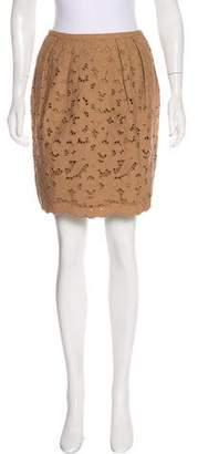 Stella McCartney Embroidered Pencil Skirt
