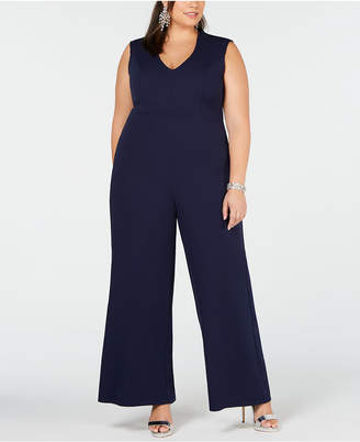 Soprano Trendy Plus Size V-Neck Jumpsuit