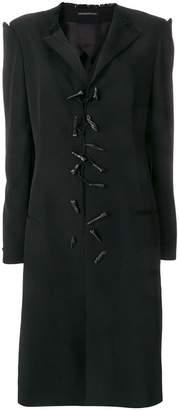 Yohji Yamamoto toggle longline coat