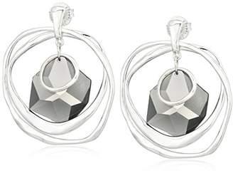 Robert Lee Morris Silver and Orbital Drop Earrings