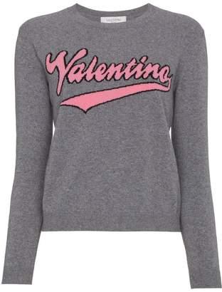 Valentino logo crew-neck jumper