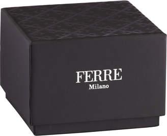 Ferré Milano Women's 34mm Stainless Steel 3-Hand Knurl Watch with Bracelet, Steel